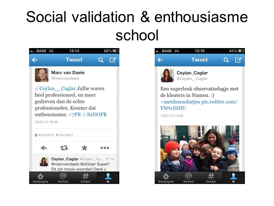 Social validation & enthousiasme school