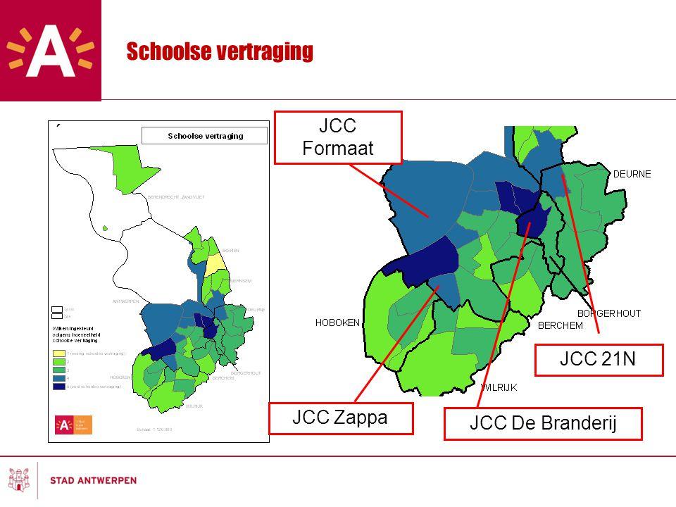 Schoolse vertraging JCC Zappa JCC De Branderij JCC 21N JCC Formaat