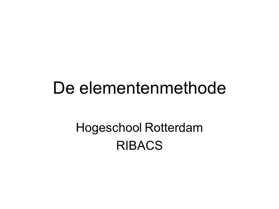 De elementenmethode Hogeschool Rotterdam RIBACS