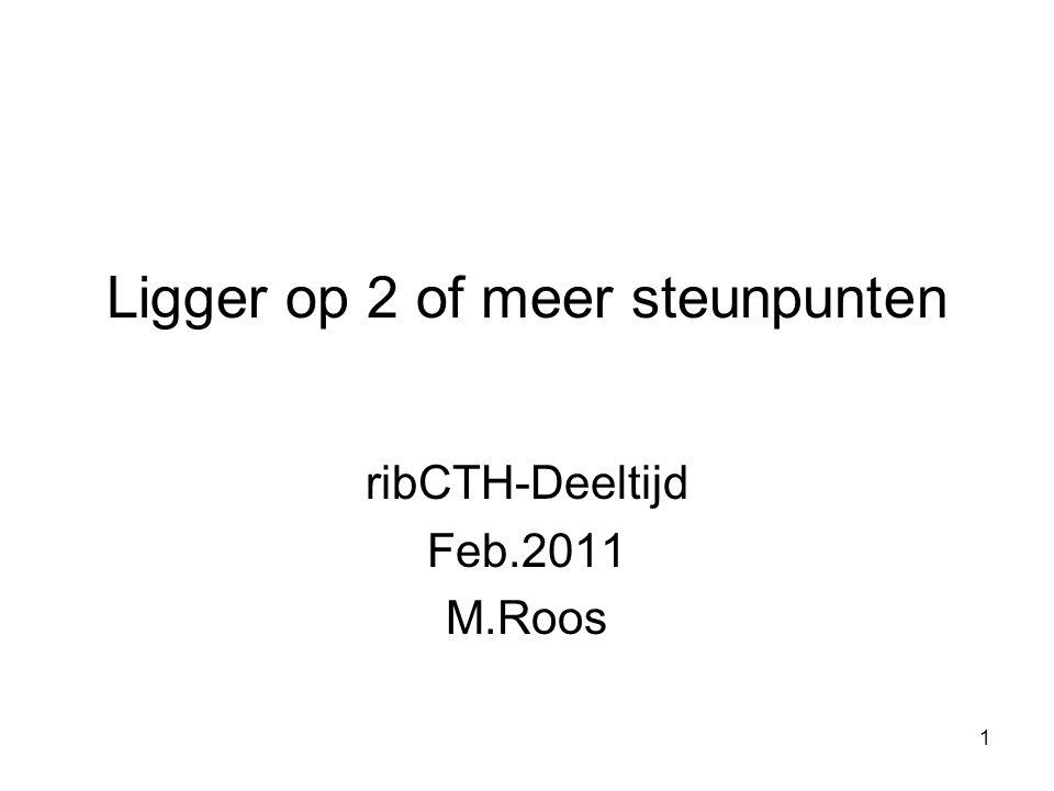 1 Ligger op 2 of meer steunpunten ribCTH-Deeltijd Feb.2011 M.Roos