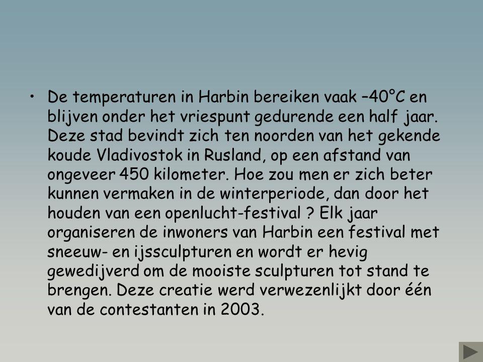 De temperaturen in Harbin bereiken vaak –40°C en blijven onder het vriespunt gedurende een half jaar.