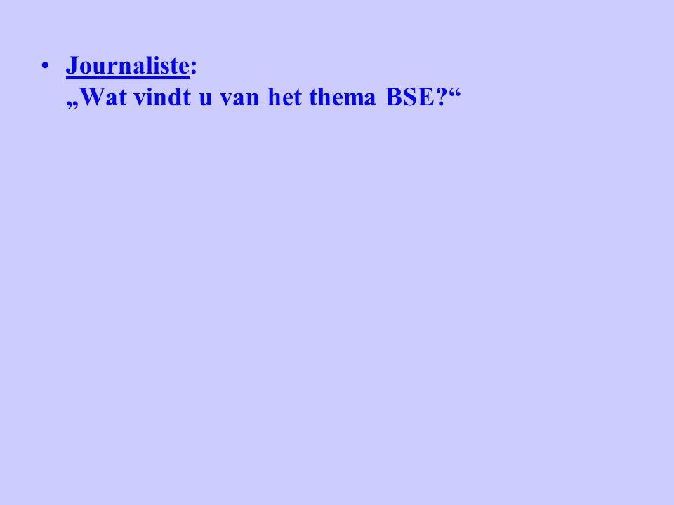 """Journaliste: """"Wat vindt u van het thema BSE?"""