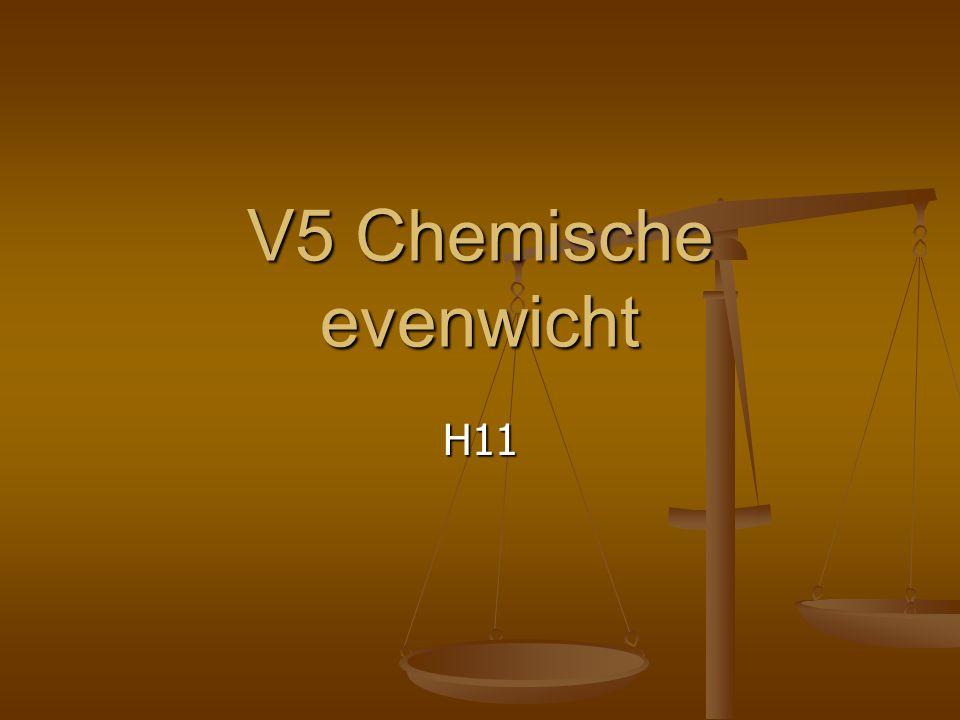 V5 Chemische evenwicht H11