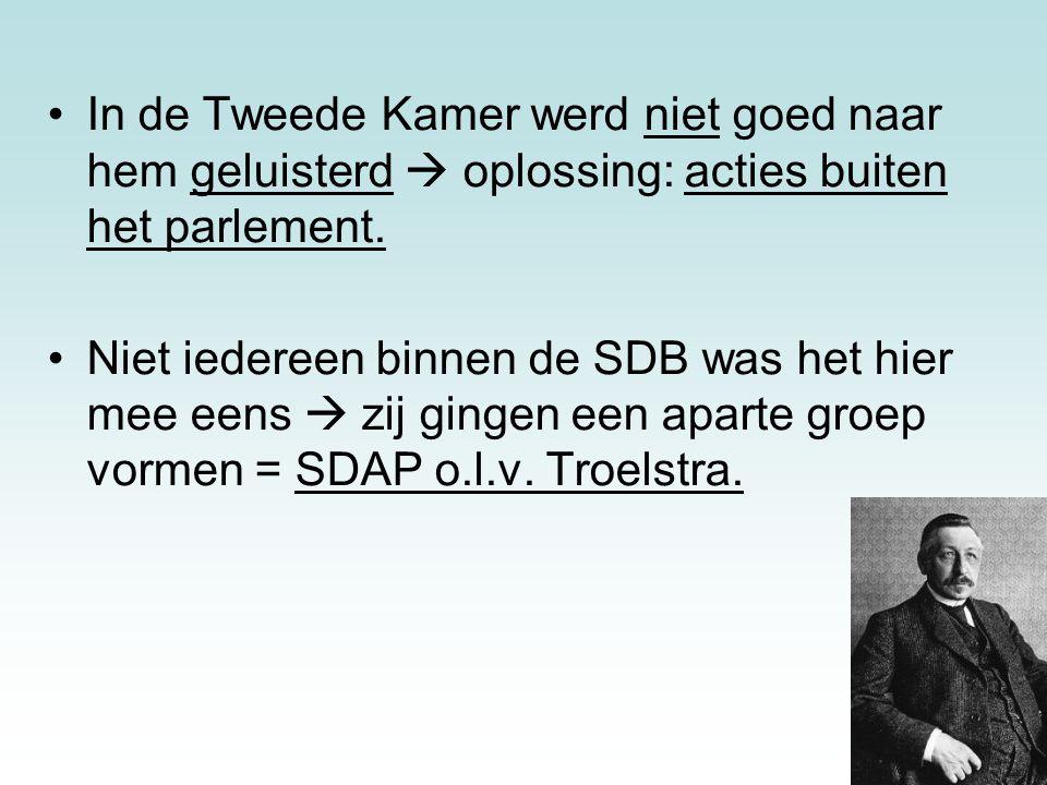 19 1897: SDAP met kleine fractie in de Kamer.SDAP werd erg succesvol.