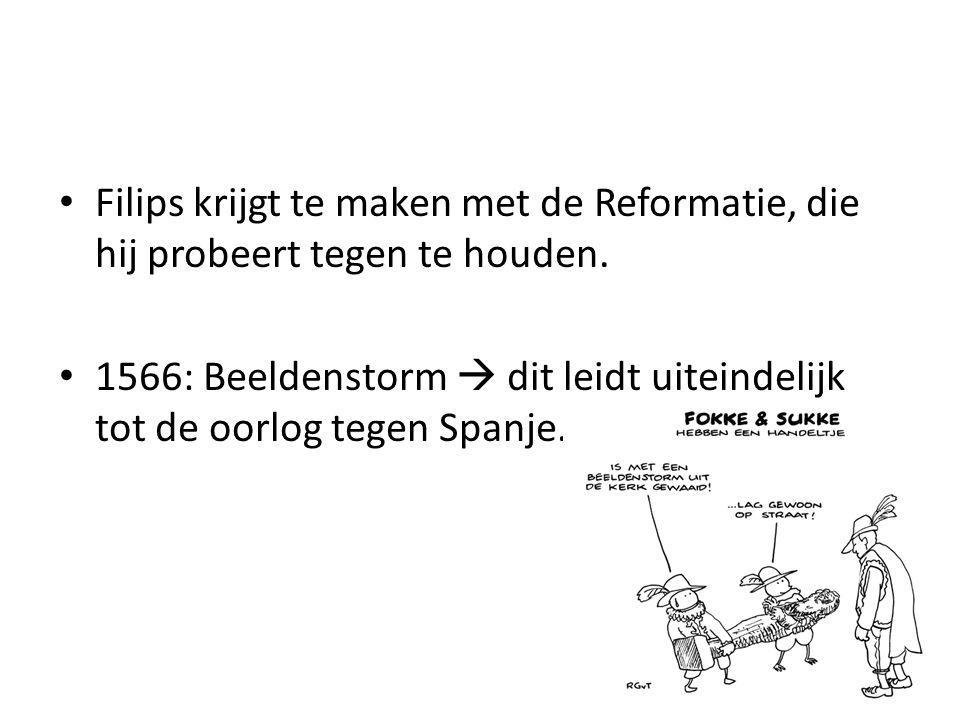 1572: Willem van Oranje officieel de leider van de Opstand tegen Spanje.