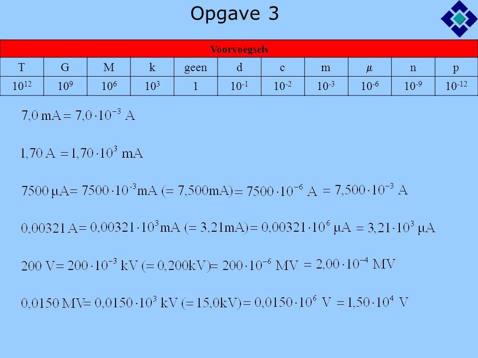 Opgave 3 Voorvoegsels TGMkgeendcm  np 10 12 10 9 10 6 10 3 110 -1 10 -2 10 -3 10 -6 10 -9 10 -12