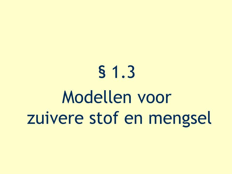 § 1.3 Modellen voor zuivere stof en mengsel