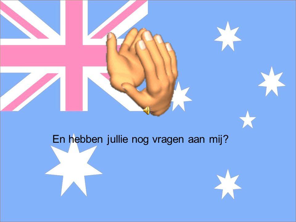 de vragen 1. Welke taal spreken ze in Australië? 2. Welk sterrenbeeld zit er in de Australische vlag? 3. Hoe heten de oorspronkelijke bewoners van Aus