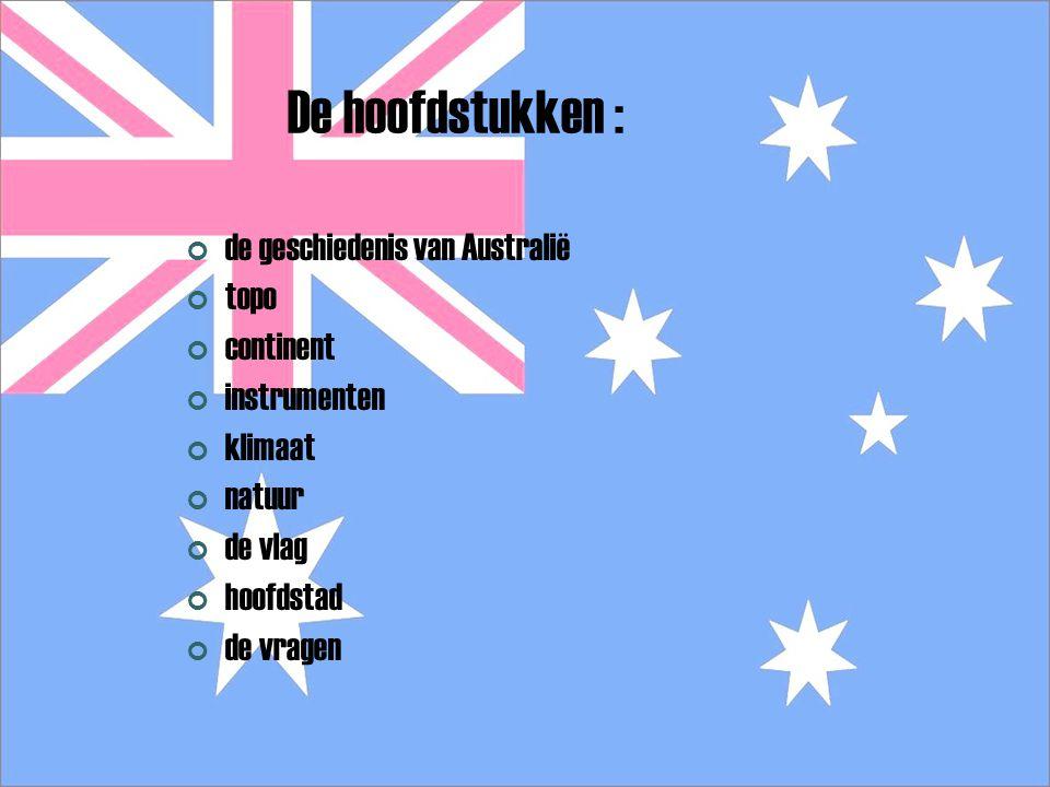 Australië Mijn spreekbeurt gaat over Australië