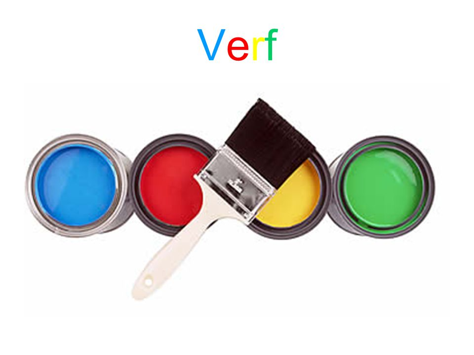 Verf bestaat uit pigmenten en een bindmiddel