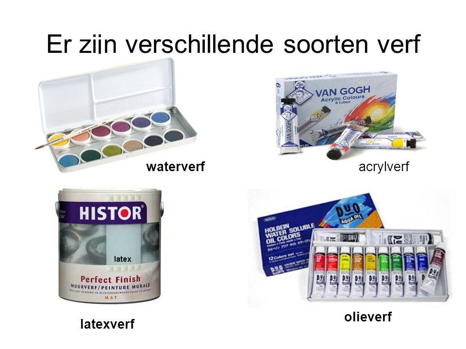 Er zijn verschillende soorten verf acrylverfwaterverf olieverf latexverf