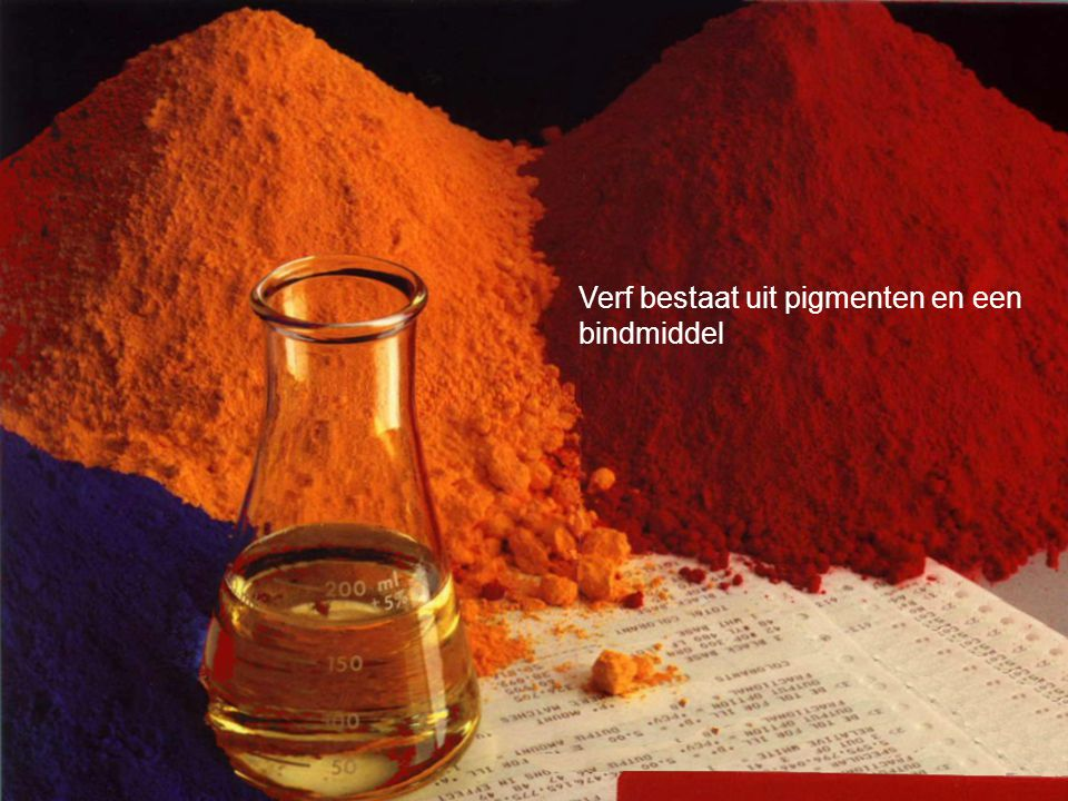 Opdracht: Zoek op internet informatie over verf, bindmiddelen, pigmenten, verf mengen enz.