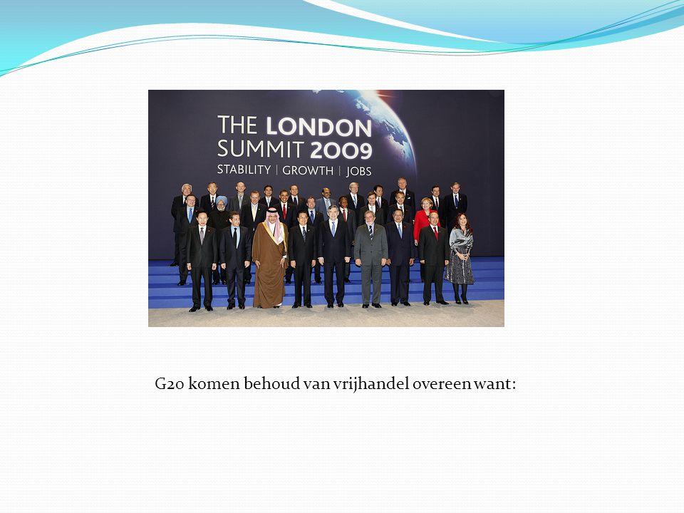 G20 komen behoud van vrijhandel overeen want: