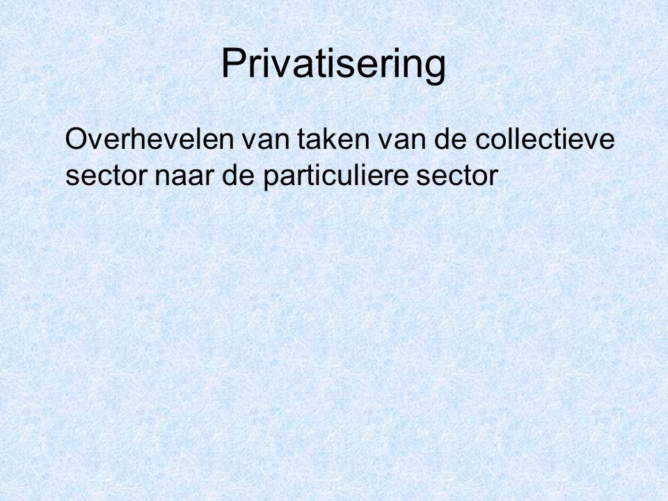 Overhevelen van taken van de collectieve sector naar de particuliere sector