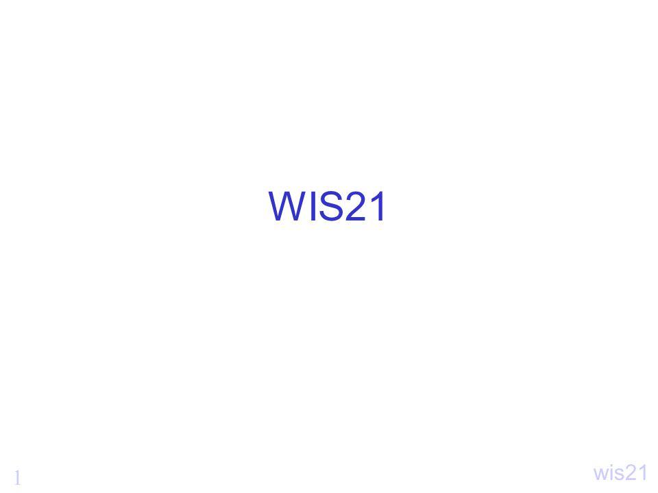 1 wis21 WIS21