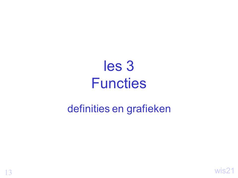 13 wis21 les 3 Functies definities en grafieken