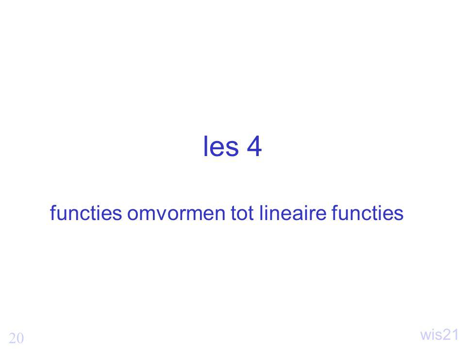 20 wis21 les 4 functies omvormen tot lineaire functies