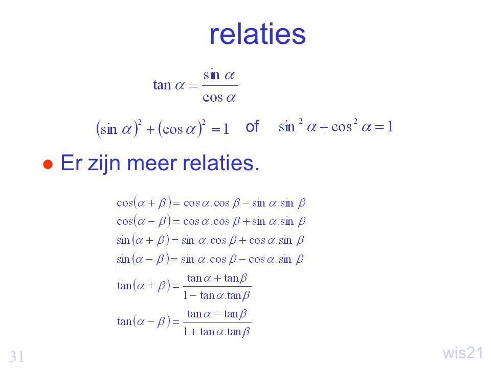 31 wis21 relaties Er zijn meer relaties. of