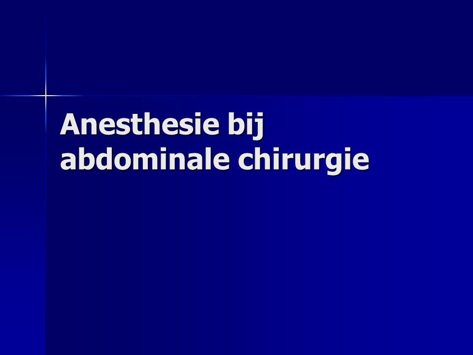 Anesthesie bij abdominale chirurgie