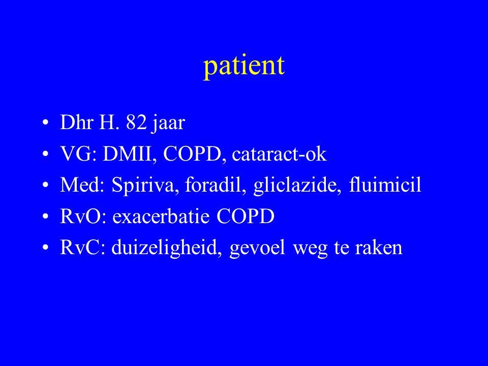 Hartfrequentie bij staan Parasympathisch Patient liggend naar staand Kortste R-R interval na 15e slag en langste R-R na 30e slag: 30-15 ratio Normaal: snelle tachycardie na staan (max na 15e slag, gevolgd door bradycardie bij 30e slag CAN: geleidelijke stijging in frequentie