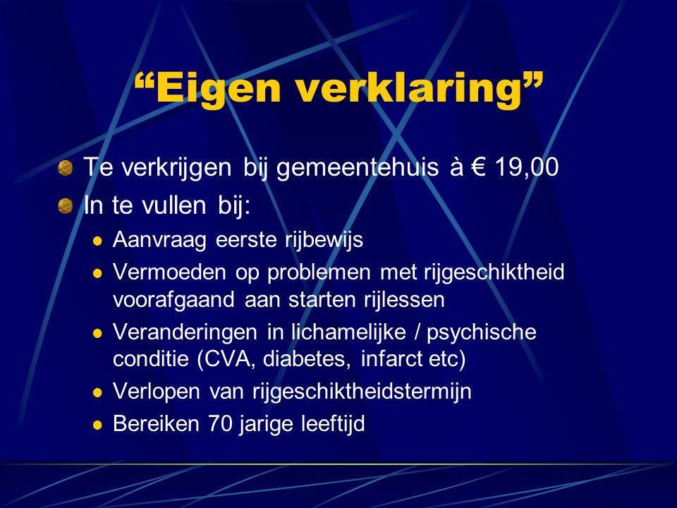 Op eigen verklaring beperking niet vermelden is strafbaar (Kans op) niet uitbetalen schadevergoeding door verzekeraar Verzekeraar verhaalt evt.