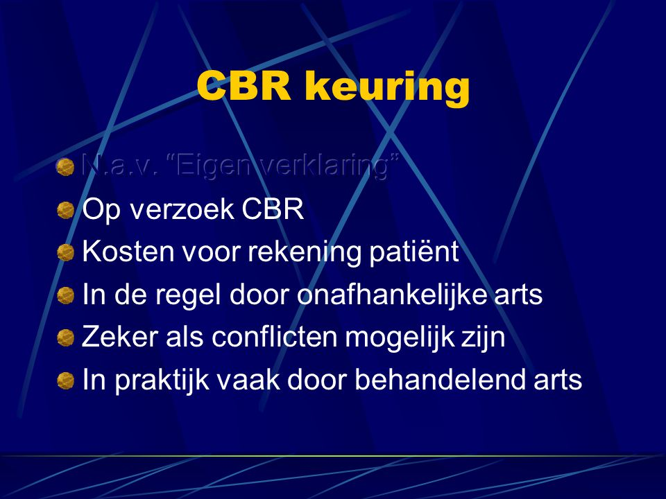 CBR keuring