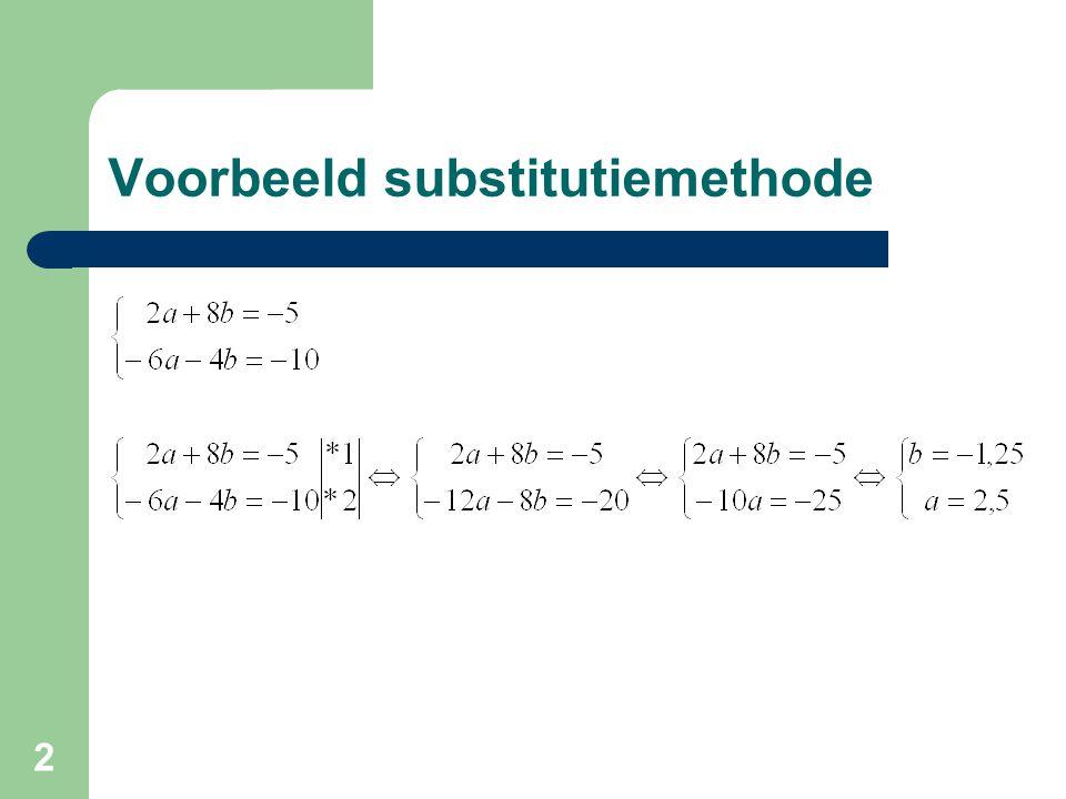 2 Voorbeeld substitutiemethode