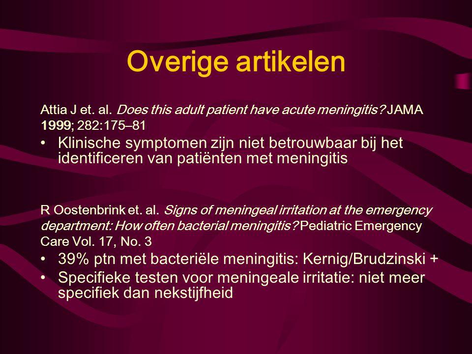 Overige artikelen Attia J et.al. Does this adult patient have acute meningitis.