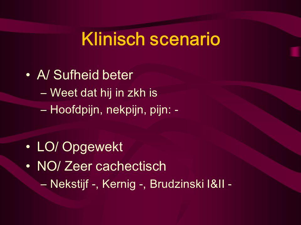 Klinisch scenario Med: –Prednison 5 mg 1dd 1,5 –Haldol 1 mg zn –Pantoprazol 20 mg 1dd1 –Digoxine 62,5 mcg 1dd1 –Augmentin –Nadroparine