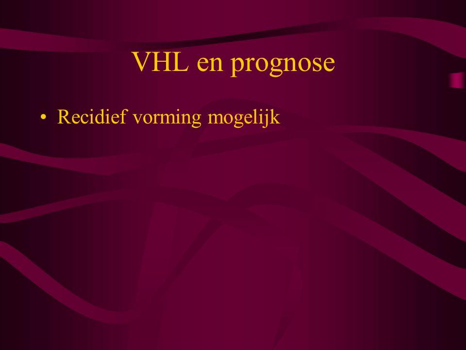 VHL en prognose Recidief vorming mogelijk