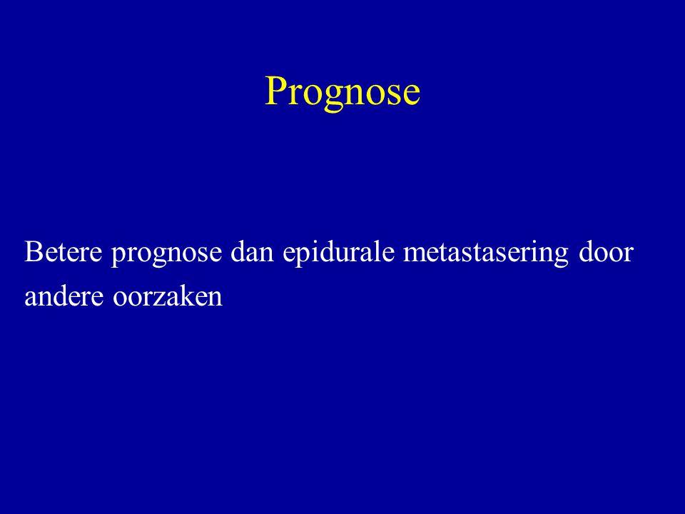Prognose Betere prognose dan epidurale metastasering door andere oorzaken