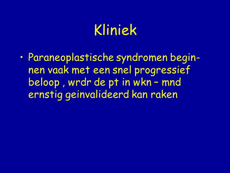 Diagnose De diagnose kan vaak gesteld worden op grond van kenmerkende klinische beeld Hierna kan het aantonen van een ziekte specifiek antilichaam deze diagnose bevestigen