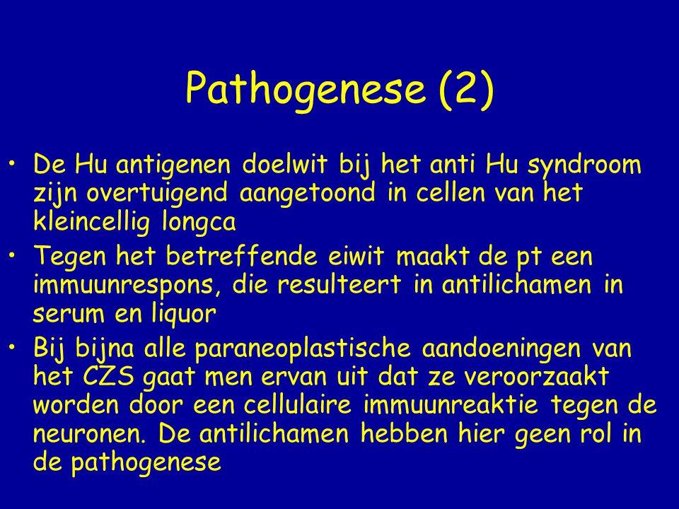 Take home message Patiënten met een kleincellig longcarcinoom ontwikkelen soms een limbische encefalitis met daarbij een sensorische polyneuropathie.