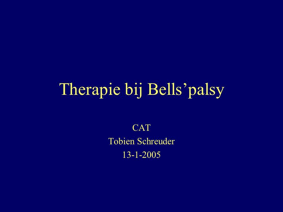 Therapie bij Bells'palsy CAT Tobien Schreuder 13-1-2005