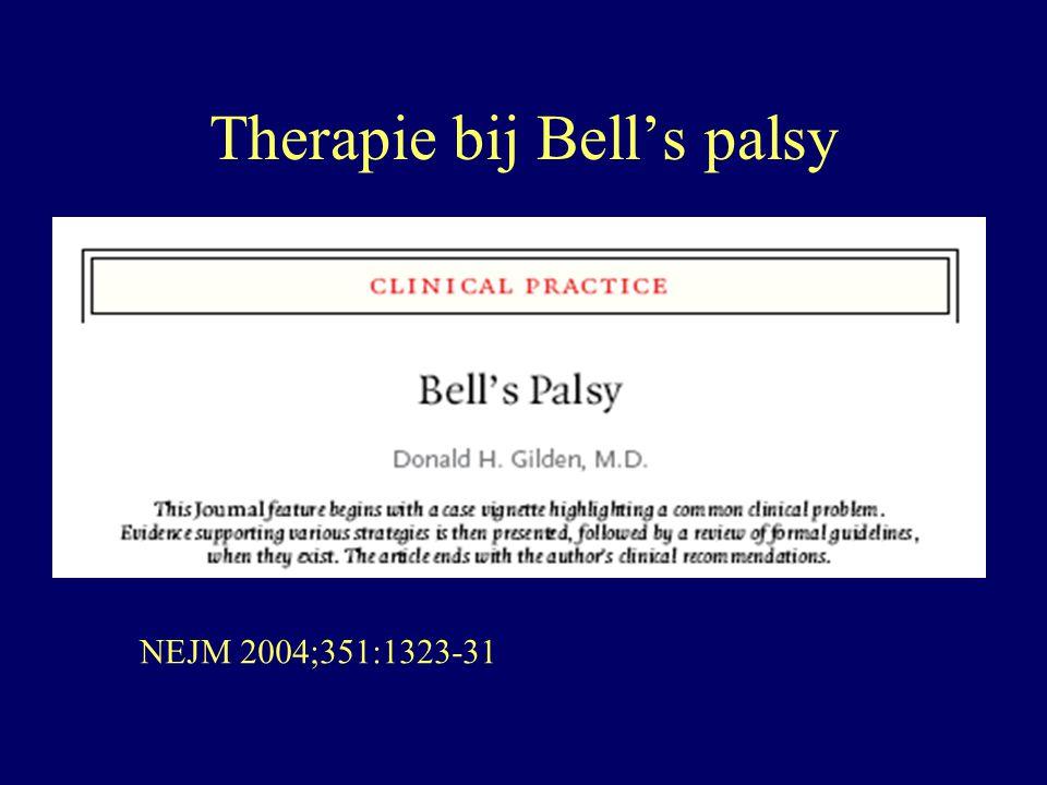 Therapie bij Bell's palsy NEJM 2004;351:1323-31