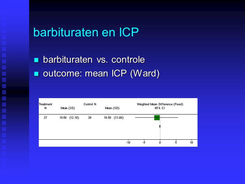 barbituraten en ICP (II) barbituraten vs.controle barbituraten vs.