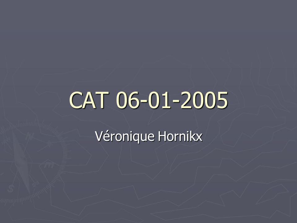 CAT 06-01-2005 Véronique Hornikx