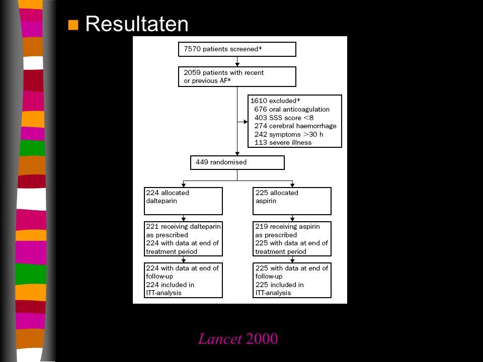 Resultaten Lancet 2000