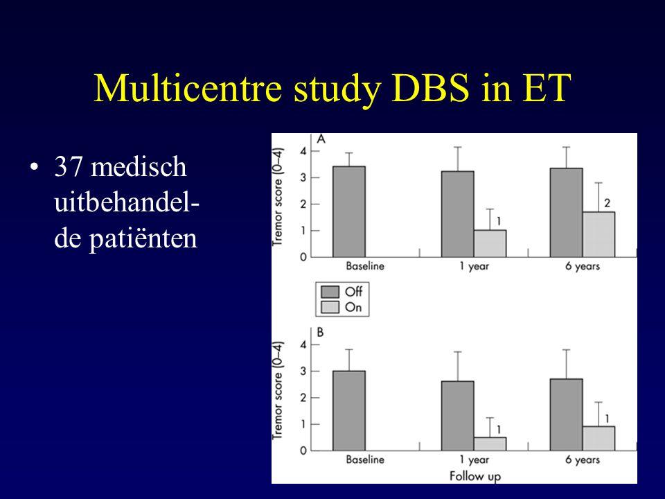 Multicentre study DBS in ET 37 medisch uitbehandel- de patiënten