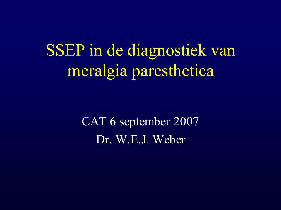 Meralgia paresthetica Pijn en hypesthesie of allodynie in het verzorgingsgebied van de n.