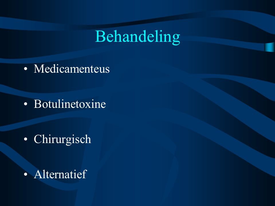 Behandeling Medicamenteus Botulinetoxine Chirurgisch Alternatief