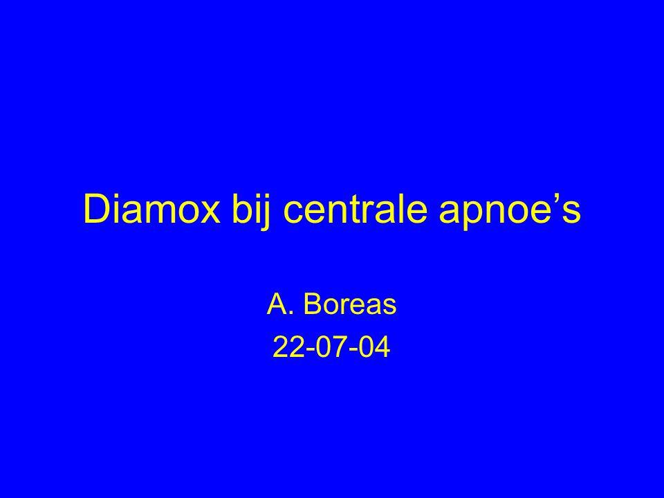 Diamox bij centrale apnoe's A. Boreas 22-07-04
