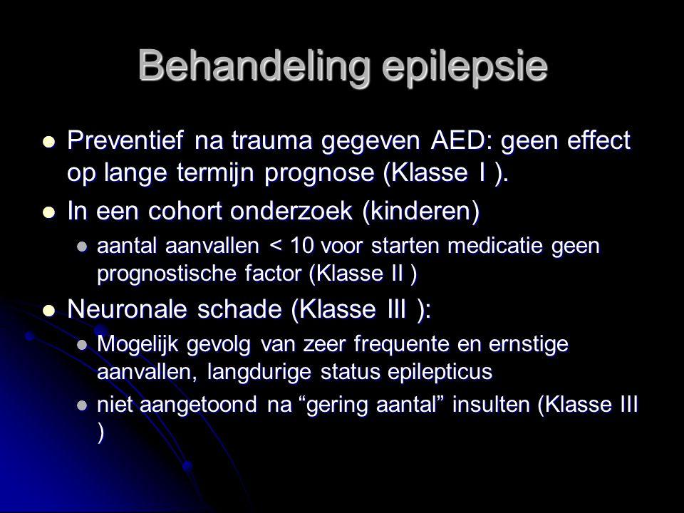 Preventief na trauma gegeven AED: geen effect op lange termijn prognose (Klasse I ).