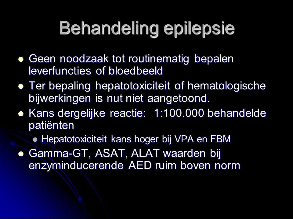 Geen noodzaak tot routinematig bepalen leverfuncties of bloedbeeld Geen noodzaak tot routinematig bepalen leverfuncties of bloedbeeld Ter bepaling hep