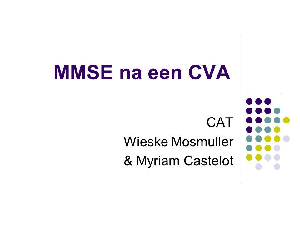 MMSE na een CVA CAT Wieske Mosmuller & Myriam Castelot