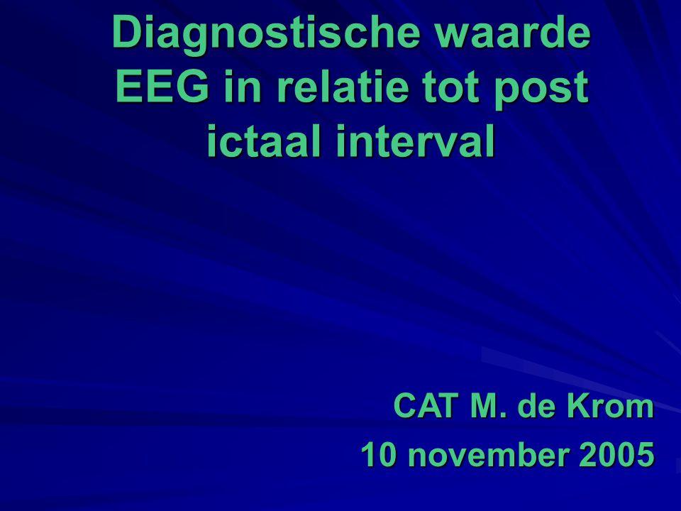 Diagnostische waarde EEG in relatie tot post ictaal interval CAT M. de Krom 10 november 2005
