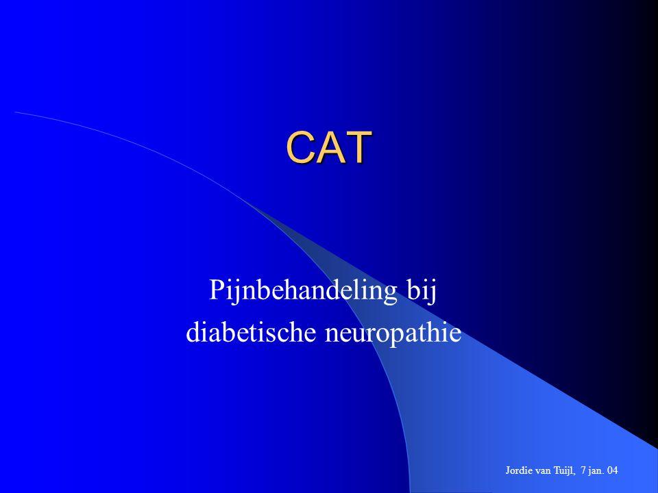 CAT Pijnbehandeling bij diabetische neuropathie Jordie van Tuijl, 7 jan. 04
