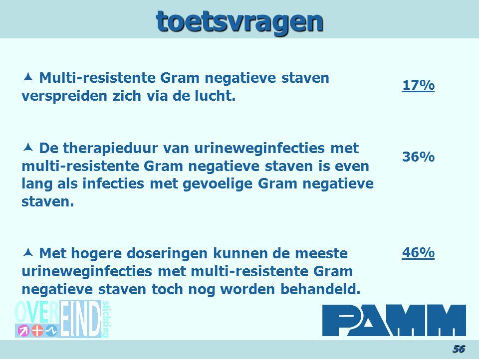 toetsvragen56  Multi-resistente Gram negatieve staven verspreiden zich via de lucht.