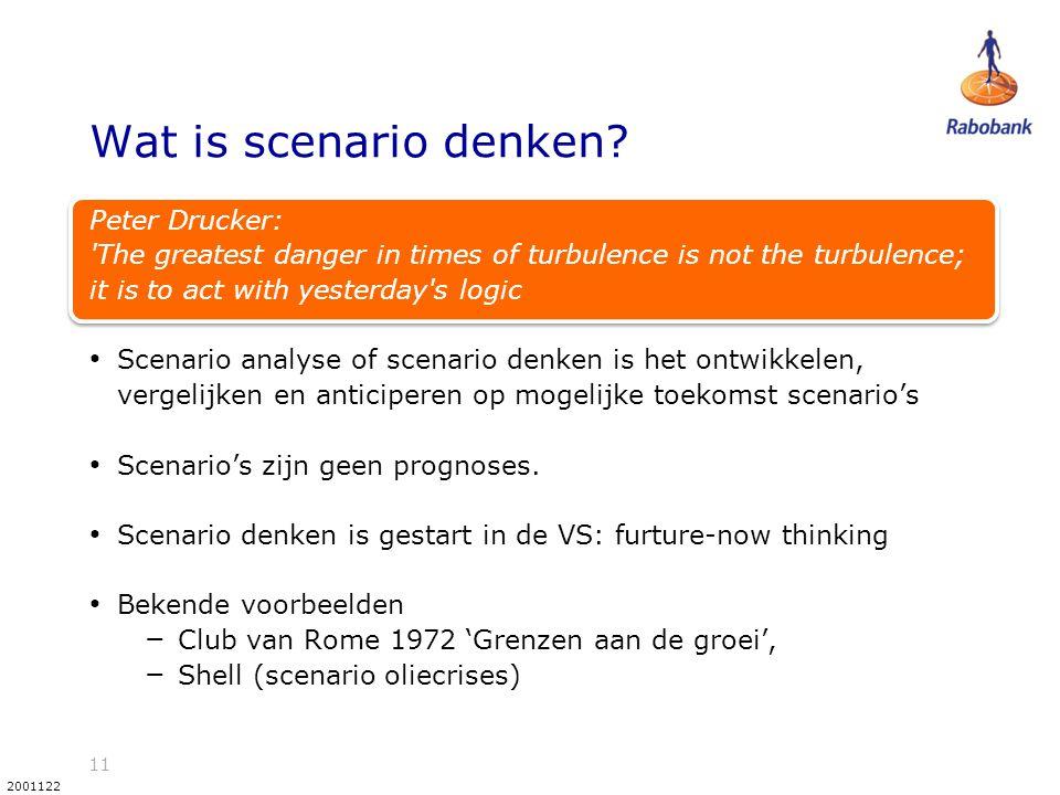 11 2001122 Wat is scenario denken.