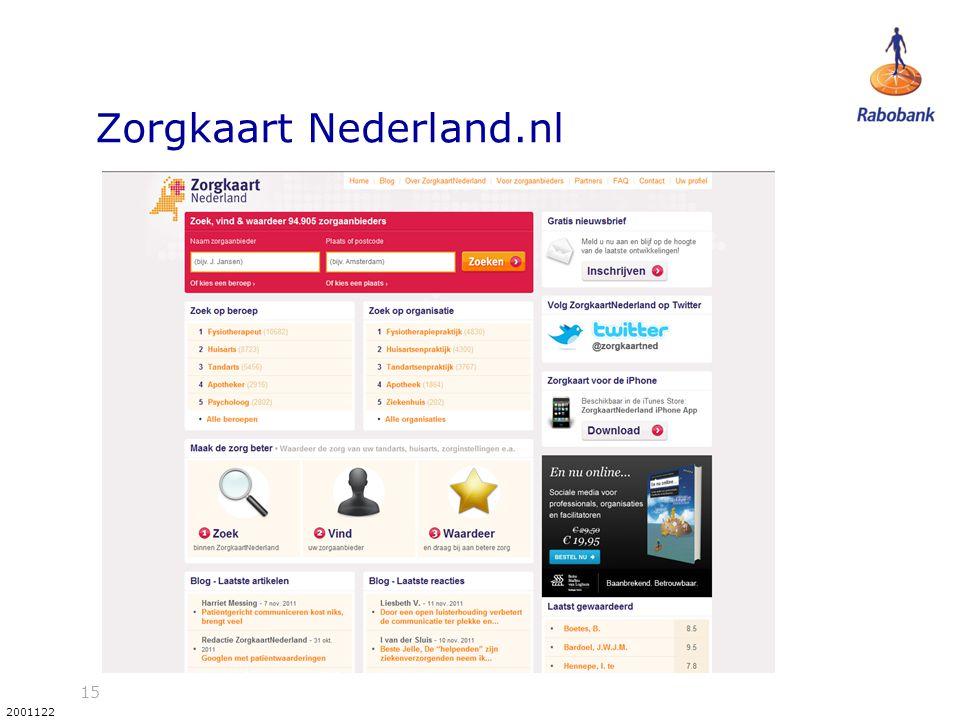 15 2001122 Zorgkaart Nederland.nl